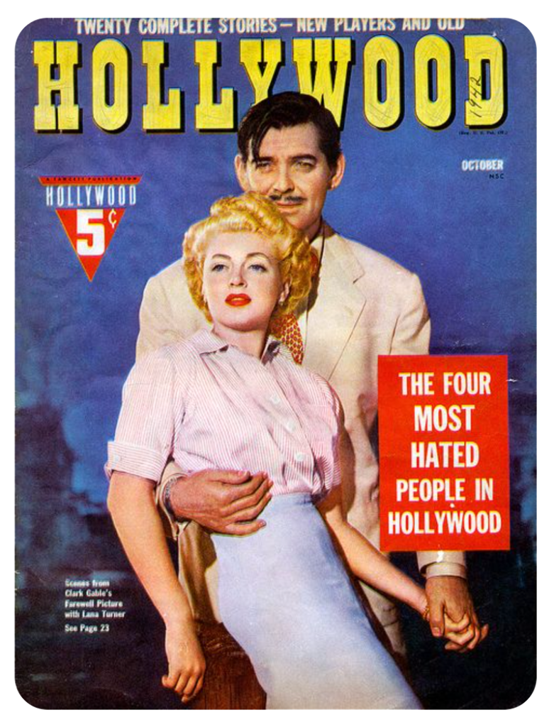 1940s celebrity gossip & scandal for mystery stories